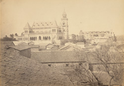 [Distant view of the] New palace at Bhuj